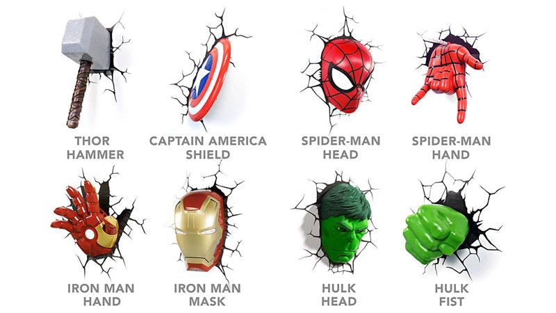 Applique murale spiderman
