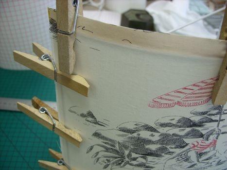 Faire applique murale en tissu